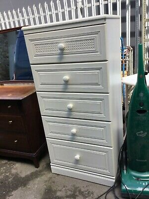 tall slim chest of drawers white