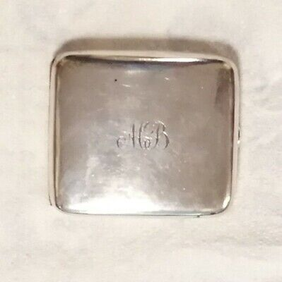 Antique hallmarked solid silver cigarette case