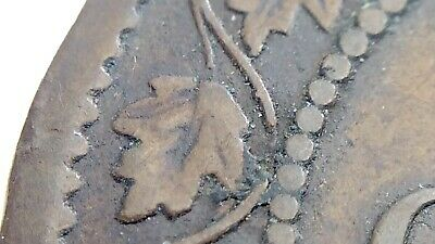 1858 BS Broken Stem Canada One 1 Cent Large Penny Circulated Victoria Coin J732