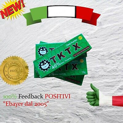 TKTX 40% GREEN - Crema Anestetica Tattoo Piercing Trucco makeup numbing piercing