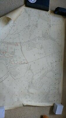 Ordnance Survey Hothersall 1932 , 25 inch to a mile Map. river ribble