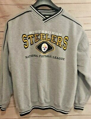 new product 8c0ae aa960 VINTAGE PITTSBURGH STEELERS, Lee Sports NFL Large Sweatshirt Embroidered  Logos