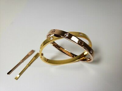 High Quality Love Bangle Bracelet with Screwdriver Stainless Steel Fast Shipping
