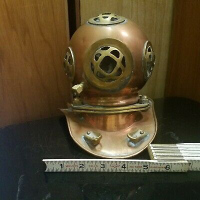Vintage Divers Diving Helmet Us Navy Antique Maritime Brass & Copper Replica