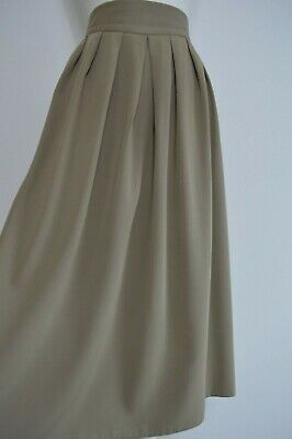 Vintage 1980's does 1940's soft pleat calf length skirt by Canada Size 16