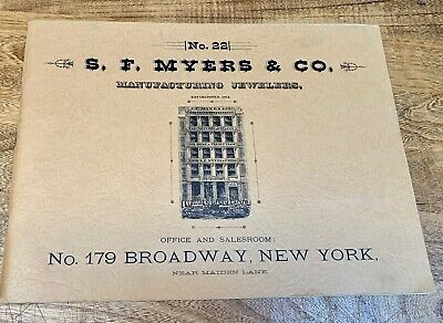 Collecting, Clocks, Watches, Reprint Catalog No. 22, S.F. Myers, Mfg. Jewelers