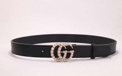 2019 new fashion luxury men and women belt belt with pearl buckle6