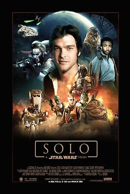 Solo A Star Wars Story 2018 Movie Poster 61 X 91 Cm ( 24X36 Inch) Laminated