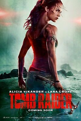 Tomb Raider 2018 Alicia Vikander Movie Poster 61 X 91 Cm ( 24X36 Inch) Laminated