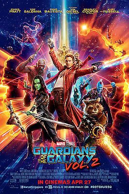 Guardians Of The Galaxt Vol 2 Poster 61 X 91 Cm ( 24X36 Inch)
