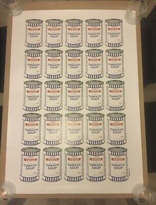 "** Banksy ""Soup Cans"" Offical POW print. Good Condition. **"