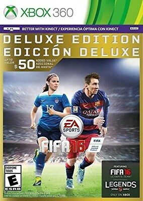 Xbox 360 Game Fifa 16 Deluxe Edition Brand New Sealed