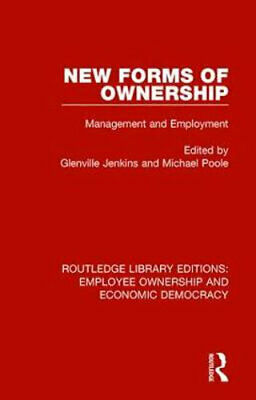 NEW New Forms of Ownership By Glenville Jenkins Paperback Free Shipping