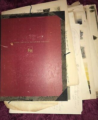 RARE VTG 1948 Color Harmony Manual Leather Portfolio Ostwald