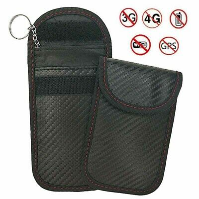 UK Car Key Signal Blocker Case Safety Cage Fob Pouch Keyless RFID Blocking Bags
