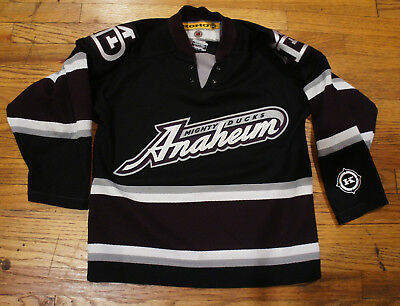 wholesale dealer a8002 368dc KOHO ANAHEIM MIGHTY Ducks Hockey Air Knit Third black lacer Youth Jersey S M