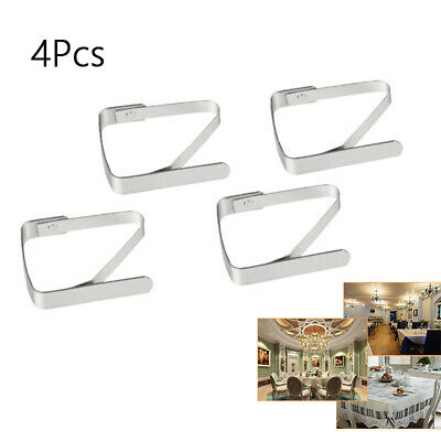 Clamps Cover Clips Holder Tablecloth Stainless Steel 4 Pcs Set Tableware Supply