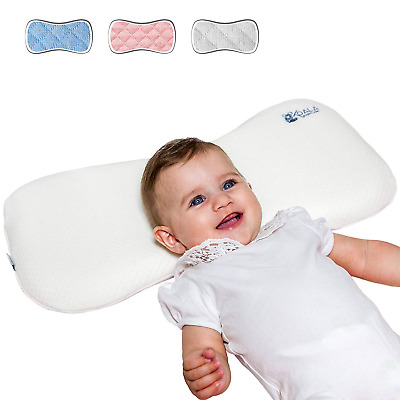 Head Care Orthopedic Cushion for Infants from 0-36 Months with Two Replacement -