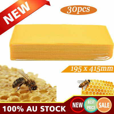30X Beekeeping Nest Box Foundation Beeswax Honeycomb Sheets Beekeeping Supplies