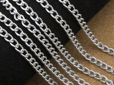 5meter / 4mm Stainless Steel DIY Long Necklace Link Chains Jewelry chain finding