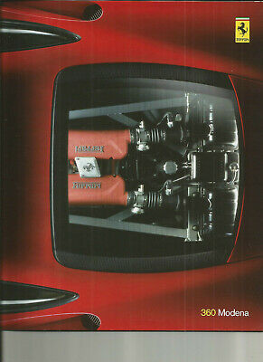 FERRARI 360 MODENA - 1999 / ITALIAN ENGLISH / catalogue brochure prospekt folder