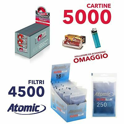 5000 CARTINE ENJOY FREEDOM SILVER CORTE e 4500 Filtri Atomic SLIM 6 mm