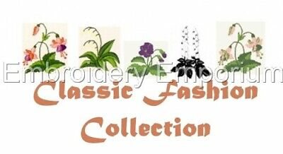 Classic Fashion Collection - Machine Embroidery Designs On Cd Or Usb