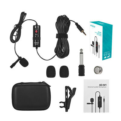 Andoer AD-M1 Omni-directional Condenser Lavalier Microphone with Foam T1U0