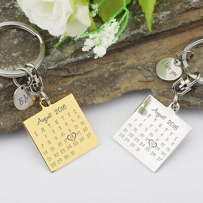 PERSONALIZED CUSTOM ENGRAVED Keychain Key Ring With Engraving Text