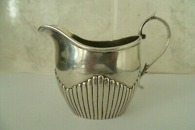 ANTIQUE VICTORIAN ORNATE 925, SOLID SILVER CREAM/MILK JUG, LONDON 1895, 66.6grm