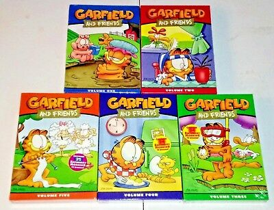 New! Garfield And Friends: Complete Tv Series 1-5. 15 Dvd Bundle. Ships Free