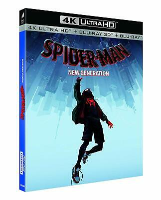 4K Ultra Hd + Blu Ray 3D + Blu Ray ** Spider-Man New Generation ** Neuf