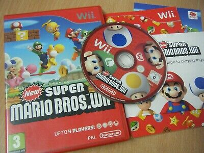 New Super Mario Bros.wii Nintendo Wii Game Complete With Manual
