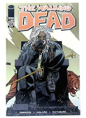 Image THE WALKING DEAD #108 Key 1st KING EZEKIEL & SHIVA Tiger NM 9.4 Ships FREE