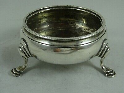 GEORGE III solid silver `COULDRON` SALT, 1784, 44gm