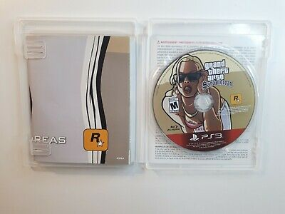 Grand Theft Auto: San Andreas w/ MAP Sony PlayStation 3 PS3 GTA VIDEO GAME