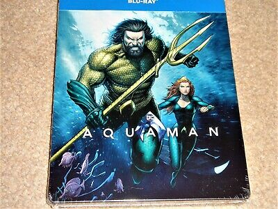 Aquaman Illustrated Steelbook /Region Free Blu Ray/Import / WORLDWIDE SHIPPING