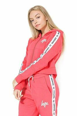 Hype Just Hype Tape Crop Kids Hoodie Pink / White
