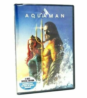 Aquaman DVD 2018 2-Disk Special Edition fast shipping
