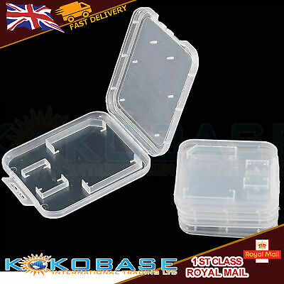 10PCS Clear Memory Card Holder Case Box Storage For Standard SD SDHC +TF Card