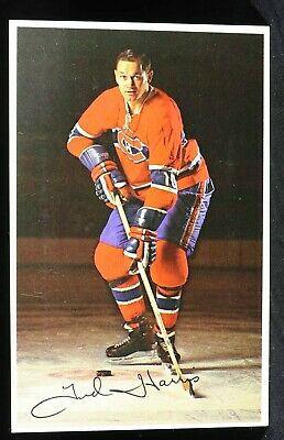 Ted Harris Signed Autograph Color Photo Canadiens Team Issue Hockey