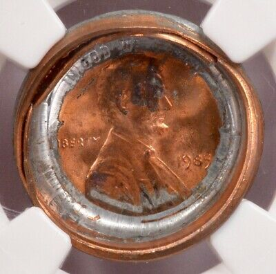 NGC 1c 1985 Lincoln Cent 2-Coin Bonded Pair MS68 Red