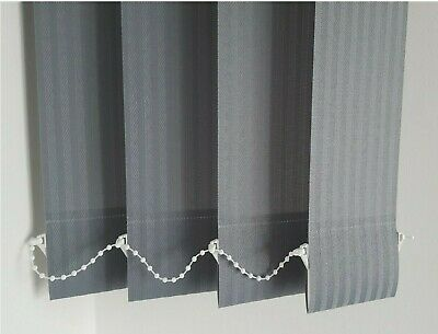 "KINGHAM GRAPHITE VERTICAL BLIND REPLACEMENT SLATS 89mm (3.5"") WIDE"