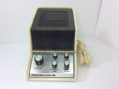 Vintage Marsona 1200 Sound Conditioner ANALOG White Noise Generator Sleep Aid