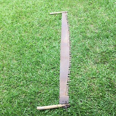 Vintage Two Man Cross Cut Saws~Logging~Antique Home Decor
