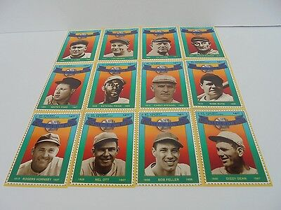 Hall of Fame Heros Baseball 12 Card / Stamp Collectible Set First Edition MINT