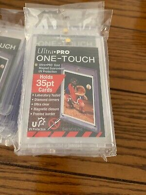 HUGE LOT of 10 ULTRA PRO One Touch Magnetic Holders 35pt UV Gold Magnet New