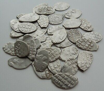 Lot Of 40 Medieval Hammered Silver Coins 500 Years Old!