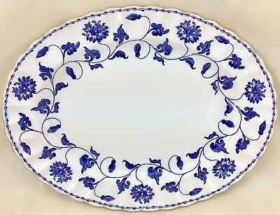 "Copeland Spode Blue Colonel 12 3/4"" Serving Platter England Bone China Floral"