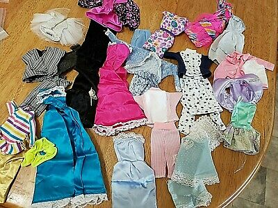 Big Lot Of Barbie Clothes Vintage, Barbie Brand Homemade Outfits And Sets